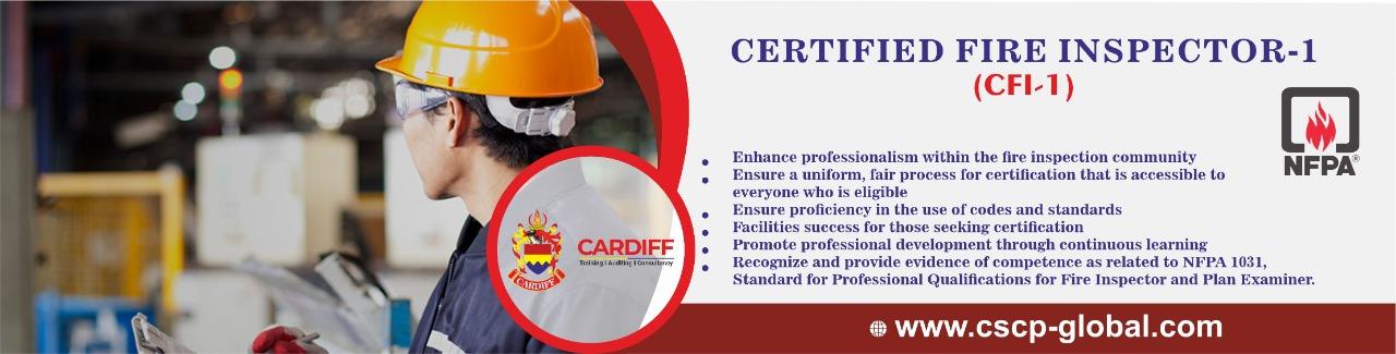 Certified Fire inspector
